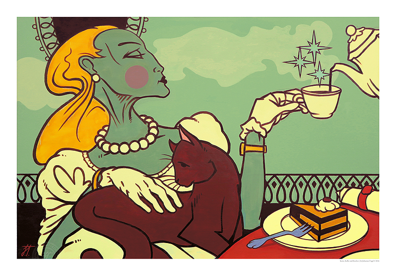 Johannes Togal - Katze, Kaffee und Kuchen